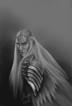 Thranduil The Hobbit:The Battle of the Five Armies by maya-Notliketheother