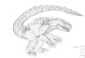 Sketch- Brontosuchus'11 by JacobSpencerKaiju79