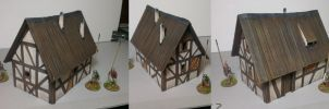 Cottage for 28 mm wargaming table by Ludwig1920