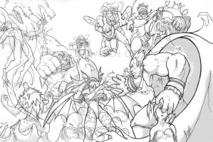 Darkstalkers BRAWL sketch by DarkKenjie