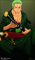Zoro Roronoa 2 years later by RenArucas
