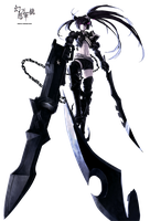 Insane Black Rock Shooter Render by Awakening-Scarlet