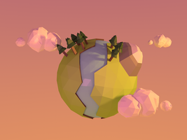 Low Poly Planet. by Shinyswordstorm
