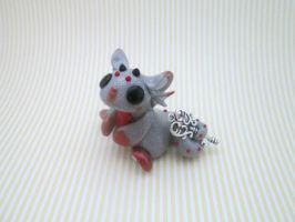 Silver and Red Key Keeper Dragon by KriannaCrafts