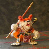 Kitsune Mini with Bo Staff by the-gil-monster
