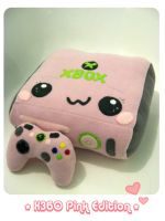 XBOX 360 PINK Plush Edition by kickass-peanut