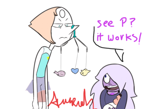 Pearl makes baby Steven fall asleep by NeverWastedTime