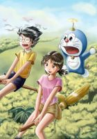 doraemon fan art by Dsabotender
