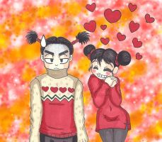 Pucca and Garu - Sweater by MaskedSugarGirl
