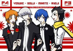 Persona 4 + 3 couple by M31rU-Ch4N