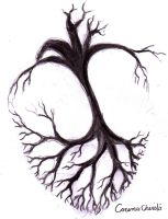 Cover my heart with a tree's shadow by CORinAZONe