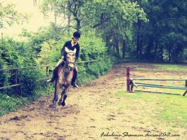 Riding a horse by Fabulous-Shannen