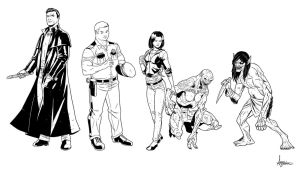 Dresden Files Tryouts Characters by sean-izaakse