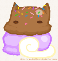 (2014.06.25) Purple Cow Ice Cream Cat by gingerbreadcottage