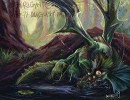 Swamp Monster by AugustAnna