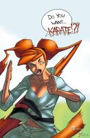 Karate Jules by pixelisedmind