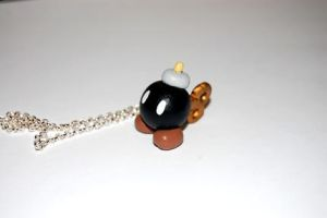 Mario bomb omb necklace by knil-maloon