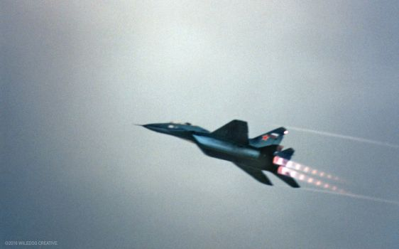 MIG Fighter Flyby by wiledog