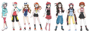 Pokegirls alt outfits by Hapuriainen