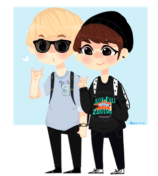 Luhan and Xiumin by Lolibeat