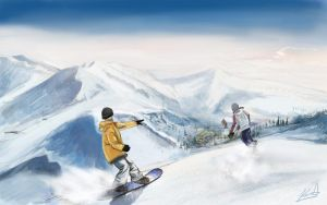 Snowboarding at Whistler by cgkevin