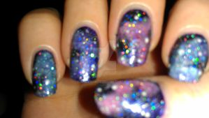 galaxy nails by rabbithat8