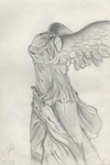Sketch of Winged Victory by perdita00