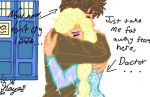 Tenth Doctor Comforting Elsa by TheSisters2