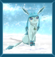 Me as a Pokemon (Part 1) .:Glaceon:. by ScottishRedWolf
