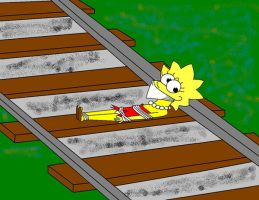 Lisa and the Tracks by Walnutwilly