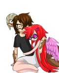 Mona and Xavier hugging by Ask-Evin