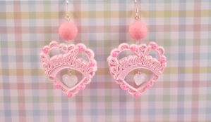 Pink True Sweetheart Earrings by PeppermintPuff