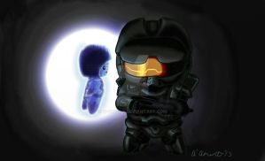 Commission Cortana and Master Chief by N-Chiodo
