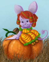 Perched on a Pumpkin by AkwardArtist