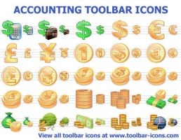 Accounting Toolbar Icons by Ikont