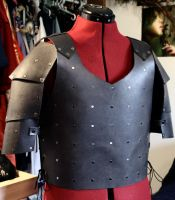 Studded Black Chest and Shoulder Armour by SerenFey