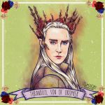 Thranduil the Elvenking with a Bitchface by lovianyloviany