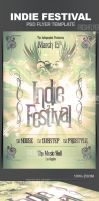 Indie Festival Flyer Template by ImperialFlyers