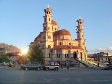 Cathedral of Korce by Artcheist