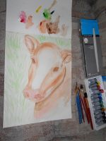 Cow Painting by wowmom-penemily