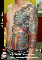 Japan style tattoo by wsm540