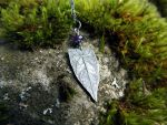 Elven Leaf with Dark Amethyst by QuintessentialArts