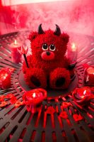 Devil teddy bear cake by GirlOfTheOcean