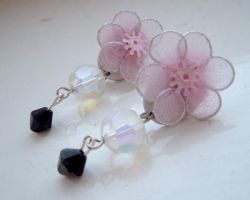 clarisas floral earring by angelicgem