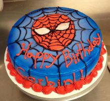 SpiderMan Birthday Cake by Crosseyed-Cupcake