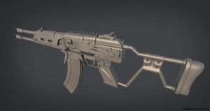 WIP 3 - REALISTIC VLADOF ASSAULT RIFLE by CougarJo