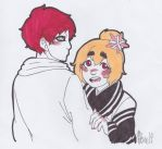 With my homeboy gaara by All-Seeing-Cyclops