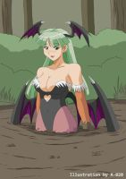Morrigan Aensland in Quicksand 03 by A-020