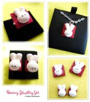Bunny Jewelry Set by ChocoAng3l