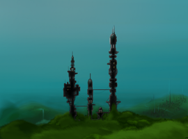 City watchtowers by Waterflame89